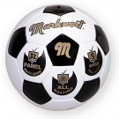 Traditional Black and White Hand Sewn Soccer Ball from Markwort - Size 5