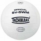 Tachikara Indoor Full Grain Leather Competition Volleyball (White) by