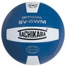 Tachikara Indoor Full Grain Leather Competition Volleyball (Royal) by