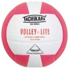 "Tachikara ""Volley-Lite"" Sensi-Tec Composite Leather Volleyball (Pink / White)"