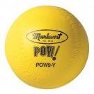 "12"" POW! Yellow Softballs from Markwort - One Dozen"