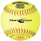 "12"" A9031B ASA Yellow Raised Seam Softballs from Wilson - (One Dozen)"