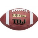Wilson TDJ Official Junior League Leather Footballs - Case of 6 by