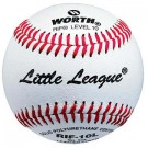 Reduced Injury Factor Little League Level 10 Leather Game Baseballs from Worth - (One Dozen)