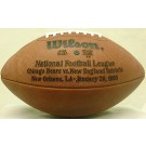 Super Bowl XX Official Game Football by Wilson - The First Year Issue - Chicago Bears vs. New England Patriots
