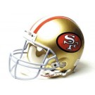 San Francisco 49ers (1964-1995) Riddell Full Size Old Logo Current Construction (Authentic) Football Helmet