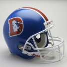 Denver Broncos (1975-1996) Authentic Full Size Riddell Old Logo Throwback Football Helmet by