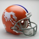 "Denver Broncos (1966) Riddell Full Size Authentic ""Old Style Throwback"" Football Helmet"