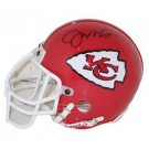 Joe Montana, Kansas City Chiefs Autographed Riddell Authentic Mini Football Helmet by