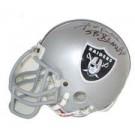 "Fred Biletnikoff, Oakland Raiders Autographed Riddell Authentic Mini Football Helmet - Signed ""SB XI MVP"""