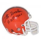 Otto Graham, Cleveland Browns Autographed Riddell Authentic Mini Football Helmet - Signed... by