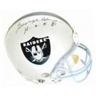 "George Blanda, Oakland Raiders Official Riddell Pro Line Autographed Authentic Full Size Football Helmet - Signed ""HOF 81"""
