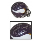 Cris Carter, Randall Cunningham and Warren Moon Autographed Minnesota Vikings Riddell Pro... by