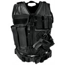 Black Tactical Vest (Regular, M-XL)