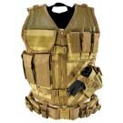 Tan Tactical Vest (Regular, M-XL)