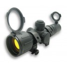 3-9x42 Red and Green Illumination Rubber Rifle Scope/Rings/Ruby Lens