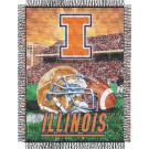 "Illinois Fighting Illini ""Home Field Advantage"" 48"" x 60"" Throw Blanket"