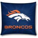 """Denver Broncos 18"""" x 18"""" Cotton Duck Toss Pillow"""