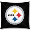 """Pittsburgh Steelers 18"""" x 18"""" Cotton Duck Toss Pillow"""