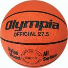 Junior Orange Rubber Basketball from Olympia (Set of 4)
