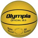 Intermediate / Women Yellow Rubber Basketballs - Set Of 6
