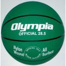Intermediate / Women Green Rubber Basketballs - Set Of 6