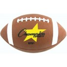 Official Size Rubber Football from Champion Sports (Set of 6)