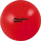 "2 lb.  5"" Diameter Red Gel Medicine Ball (Set of 6)"