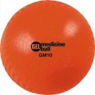 "15 lb.  10"" Diameter Orange Gel Medicine Ball (Set of 2)"