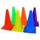 "12"" Lightweight Poly Colored Cones (Set of 18)"