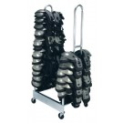 Two-Stack Football Shoulder Pad Rack by