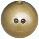 4 lb. Gold Plastic Bowling Ball by