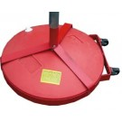 Fillable Game Standard Base with Wheel Attachment, 6' Pole and Slides (One Pair)
