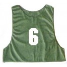 Youth Numbered Micro Mesh Team Practice Vests (Green) - 1 Dozen