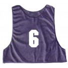 Youth Numbered Micro Mesh Team Practice Vests (Blue) - 1 Dozen