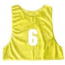Adult Numbered Micro Mesh Team Practice Vests (Gold) - 1 Dozen