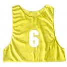 Adult Numbered Micro Mesh Team Practice Vests (Gold) - 1 Dozen
