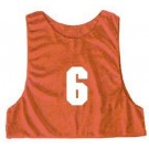 Adult Numbered Micro Mesh Team Practice Vests (Red) - 1 Dozen