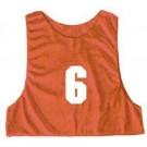 Adult Numbered Micro Mesh Team Practice Vests (Red) - 1 Dozen