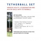 Ground Mounted Institutional Quality Tetherball Set