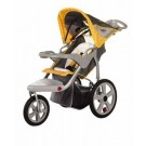InSTEP Grand Safari (Gray / Yellow) Swivel Wheel Single Jogger / Stroller