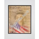 """Flag / Constitution Collage"" Double Matted 8"" X 10"" Photograph (Unframed)"