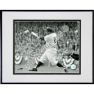 "Yogi Berra ""Batting Action / Sepia"" Double Matted 8"" X 10"" Photograph Black Anodized Aluminum Frame"