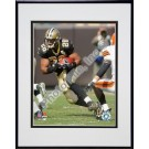 "Deuce McAllister ""2006 / 2007 Action"" Double Matted 8"" X 10"" Photograph in a Black Anodized Aluminum Frame"