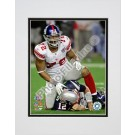 "Osi Umenyiora ""Super Bowl XLII Action #21"" Double Matted 8"" x 10"" Photograph (Unframed)"
