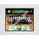 "Boston Celtics 2009 - 2010 Team Photo with Eastern Conference Champions Overlay Double Matted 8"" x 10"" Photograph (Unframed)"