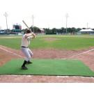 ProMounds 4' x 12' Batting Mat Pro / Pitching Mat (NO lines) - GREEN Turf