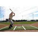 ProMounds 12' X 6' Baseball Batting Mat Pro (with Lines) - GREEN Turf