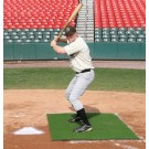 ProMounds Home Plate Stance Mat Pro 6' X 4' - Green Turf