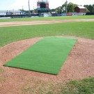 ProMounds 4' x 12' Batting Mat Pro / Pitching Mat (NO lines) - GREEN Turf